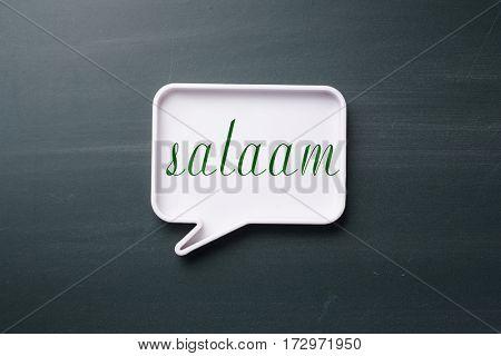 speech bubble with arabian hello