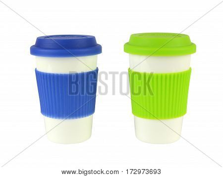 Two Containers For Hot Drinks
