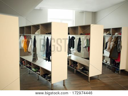 School dressing room