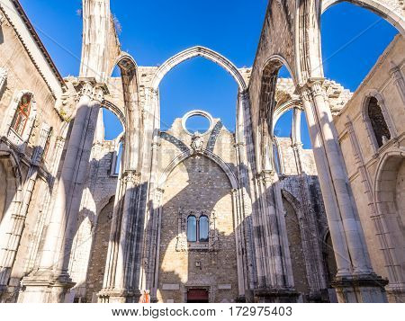 Convent of Our Lady of Mount Carmel (Portuguese: Convento da Ordem do Carmo) in Lisbon Portugal