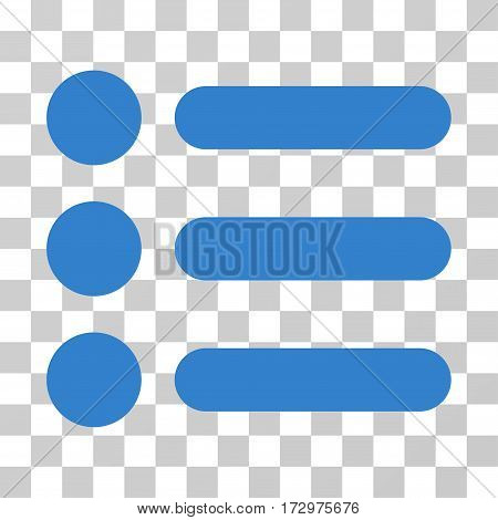 Items vector pictograph. Illustration style is flat iconic cobalt symbol on a transparent background.