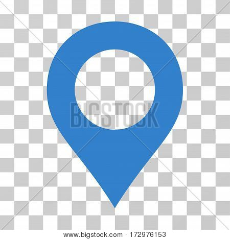 Map Marker vector pictograph. Illustration style is flat iconic cobalt symbol on a transparent background.