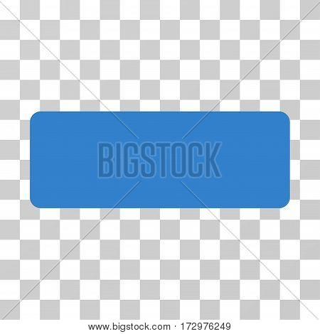 Minus vector pictograph. Illustration style is flat iconic cobalt symbol on a transparent background.