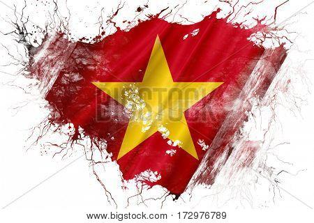 Grunge old Vietnam  flag