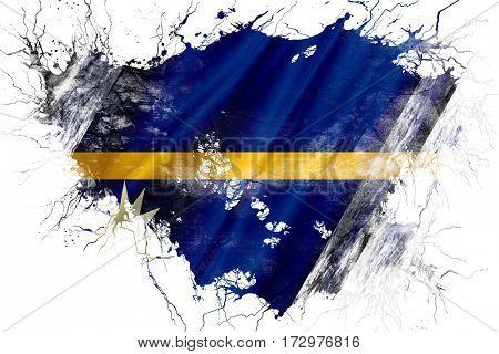 Grunge old Nauru  flag