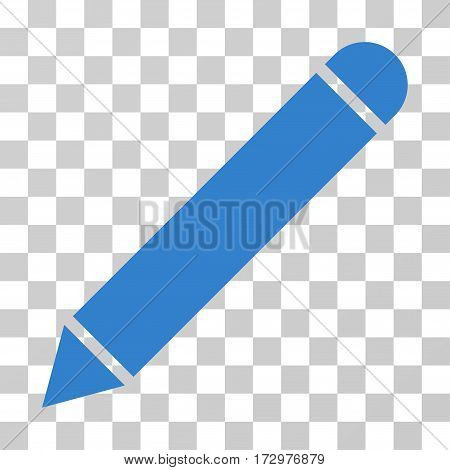 Pencil vector icon. Illustration style is flat iconic cobalt symbol on a transparent background.