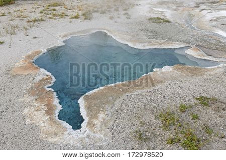 Colorful Hot Spring in the Wilderness of Yellowstone National Park in Wyoming