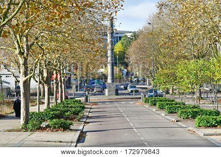 Les Mureaux France - november 19 2016 : a street in Vigne Blanche district