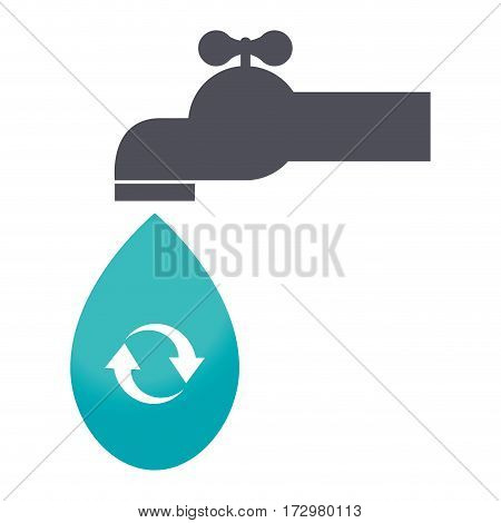 save the water tap icon vector illustration design