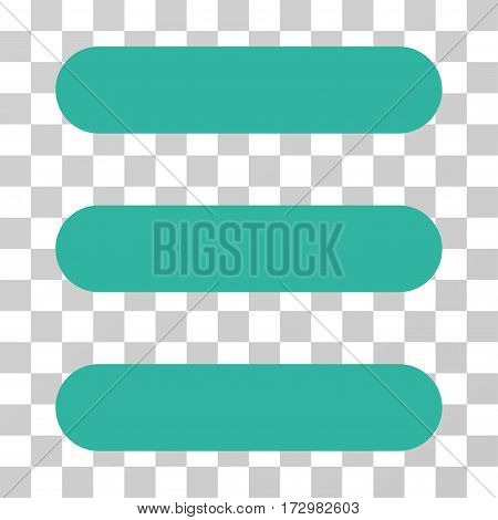 Stack vector pictogram. Illustration style is flat iconic cyan symbol on a transparent background.
