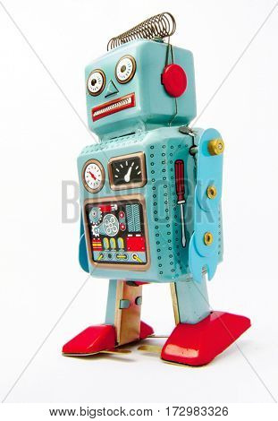 confused robot toy
