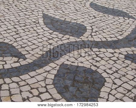 MACAU CHINA - JUNE 22 :2013 the tiles on the ground of Largo do Senado in Macau