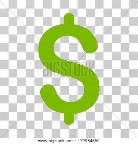 Dollar vector pictograph. Illustration style is flat iconic eco green symbol on a transparent background.