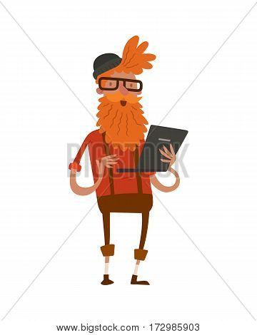 creative hipster business landing page group portrait website profile about page design studio designer job art-director accounter boss leader command isolated character vector illustration