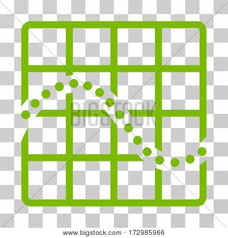 Function Chart vector pictogram. Illustration style is flat iconic eco green symbol on a transparent background.