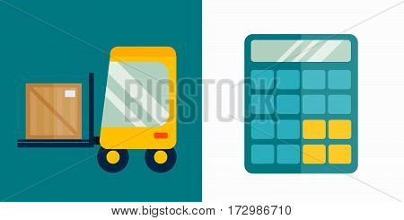 Mathematics calculator technology vector icon. Electronic financial display sign design subtraction. School graphic count balance business tool accounting.