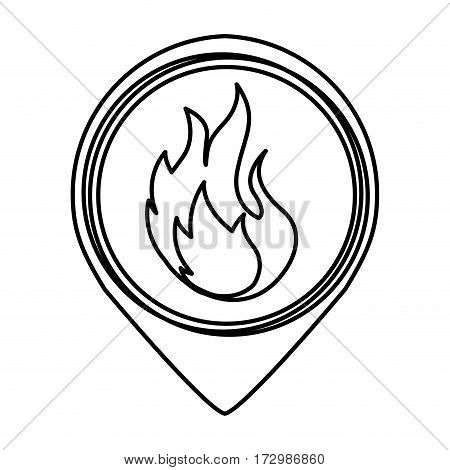 fire flame sign icon vector illustration design