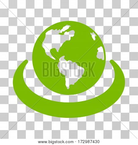 International Network vector pictogram. Illustration style is flat iconic eco green symbol on a transparent background.