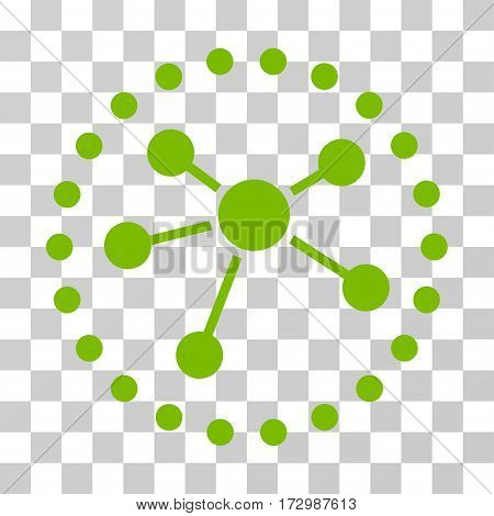 Links Diagram vector pictograph. Illustration style is flat iconic eco green symbol on a transparent background.