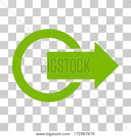 Logout vector pictograph. Illustration style is flat iconic eco green symbol on a transparent background.