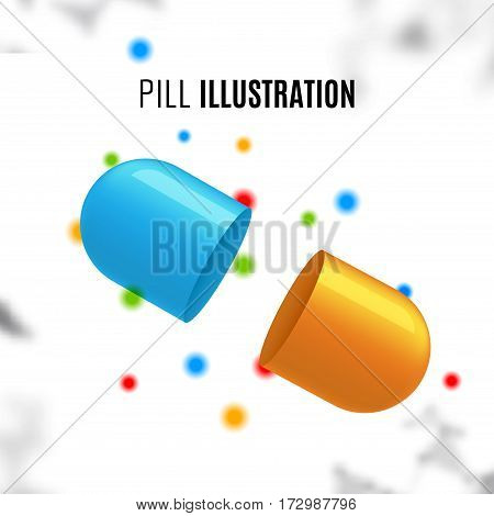 Pill medication vitamin design. Health medicine concept template.