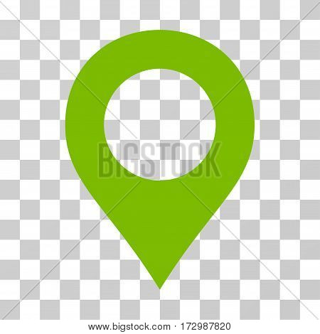 Map Marker vector pictogram. Illustration style is flat iconic eco green symbol on a transparent background.