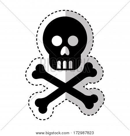 skull danger isolated icon vector illustration design