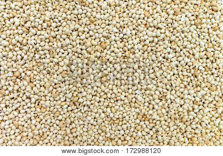 expanded millet seeds texture food pufarin pattern