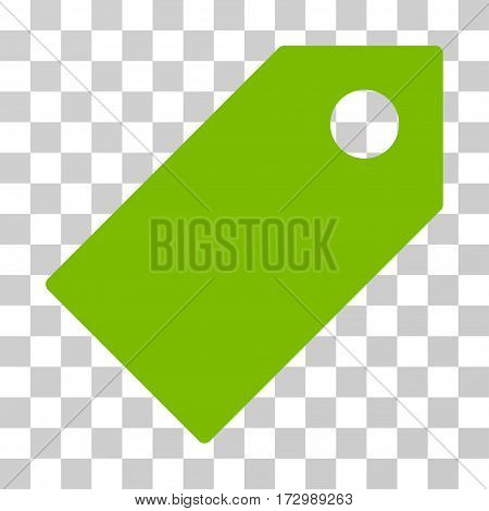 Tag vector pictogram. Illustration style is flat iconic eco green symbol on a transparent background.