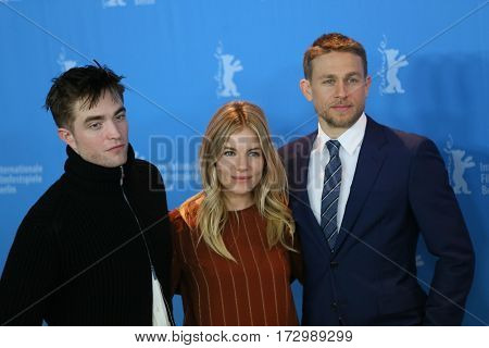 Robert Pattinson, Charlie Hunnam, Sienna Miller attend the 'The Lost City of Z' photo call during the 67th Film Festival Berlin at Hyatt Hotel on February 14, 2017 in Berlin, Germany.