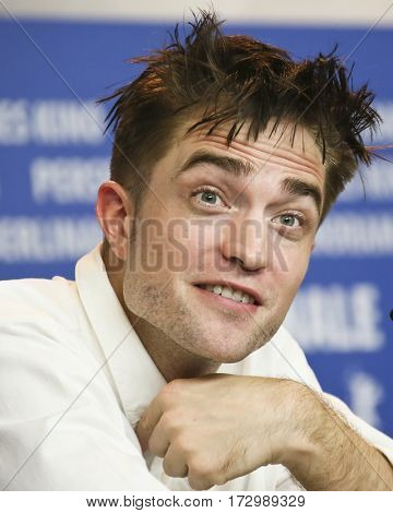 Robert Pattinson attends the 'The Lost City of Z' press conference during the 67th  Film Festival Berlin at Grand Hyatt Hotel on February 14, 2017 in Berlin, Germany.