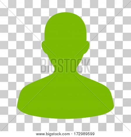 User vector icon. Illustration style is flat iconic eco green symbol on a transparent background.