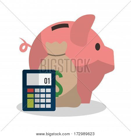 piggy bank economy or money related icons image vector illustration design