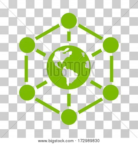 Worldwide Internet vector pictograph. Illustration style is flat iconic eco green symbol on a transparent background.