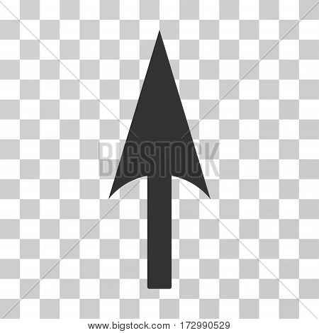 Arrow Axis Y vector pictograph. Illustration style is flat iconic gray symbol on a transparent background.