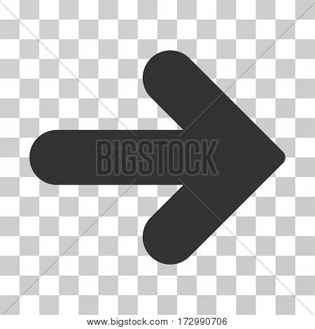 Arrow Right vector icon. Illustration style is flat iconic gray symbol on a transparent background.