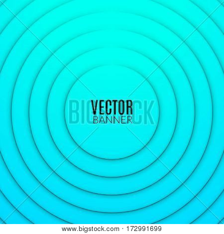 Abstract circle round wave design template. Colorful swirl layout.