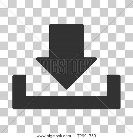 Download vector pictogram. Illustration style is flat iconic gray symbol on a transparent background.