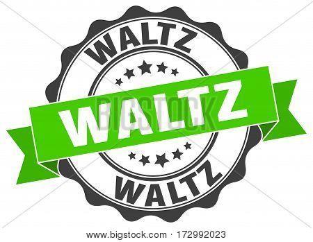 waltz. stamp. sign. seal. round. retro. ribbon