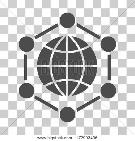 Global Frame vector pictogram. Illustration style is flat iconic gray symbol on a transparent background.