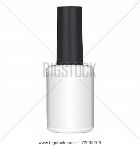 nail polish Tube, on a Isolated white background