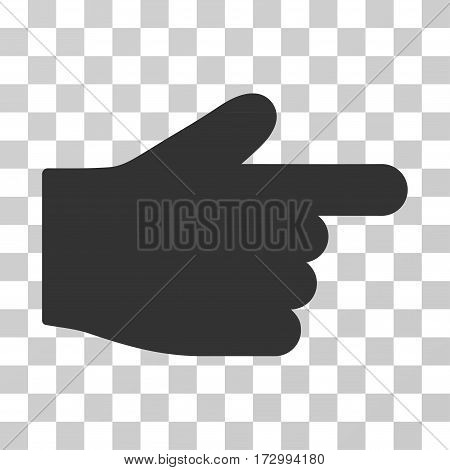 Index Finger vector pictogram. Illustration style is flat iconic gray symbol on a transparent background.
