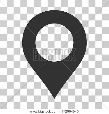 Map Marker vector pictograph. Illustration style is flat iconic gray symbol on a transparent background.