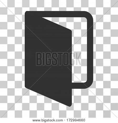 Open Door vector pictogram. Illustration style is flat iconic gray symbol on a transparent background.