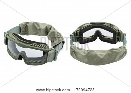 two safety glasses, isolated on white background