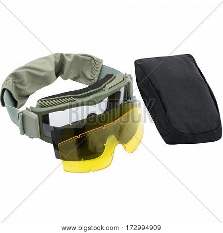 safety glasses, Packaging, isolated on white background