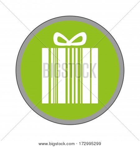 giftbox present with barcode isolated icon vector illustration design