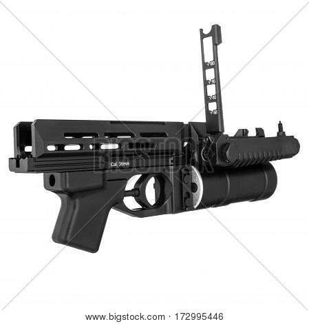 Military weapon, sight, on a isolated white background