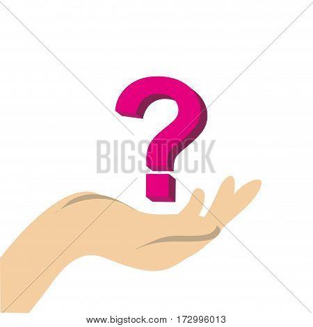 question mark symbol icon vector illustration design
