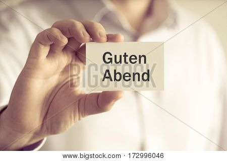 Businessman Holding Message Card